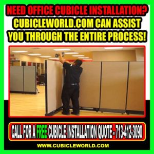 Cubicle World Offers Installation, Moving & Office Furniture Repair
