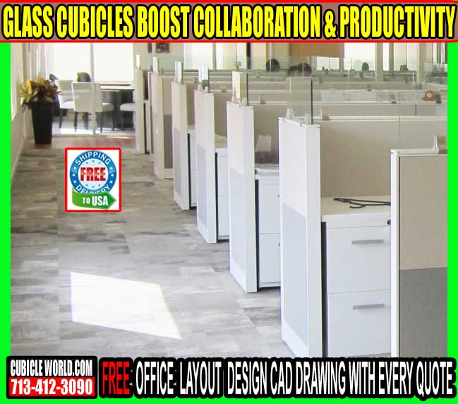 Refurbished Glass Cubicles For Sale In Houston, Texas