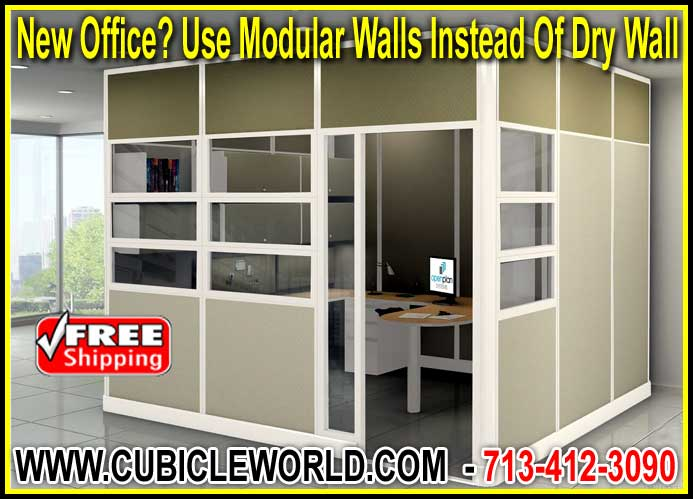 Have A New Office? Modular Walls Instead Of Dry Wall Will Save You Time & Money