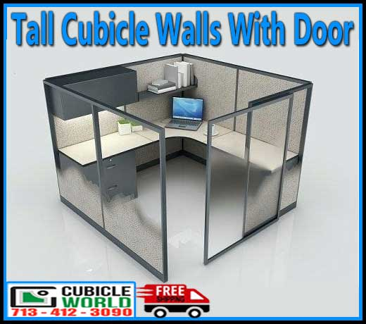 Commercial Tall Cubicle Walls With Door For Sale Factory Direct With FREE Shipping